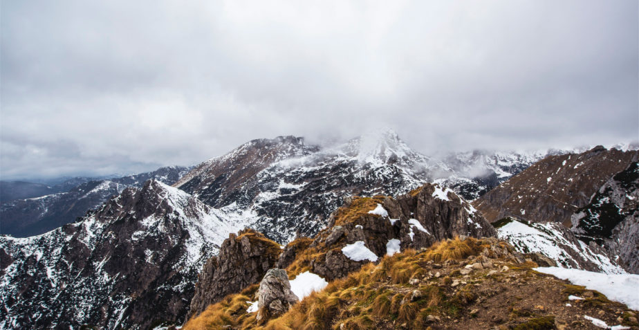 Snow in mountain