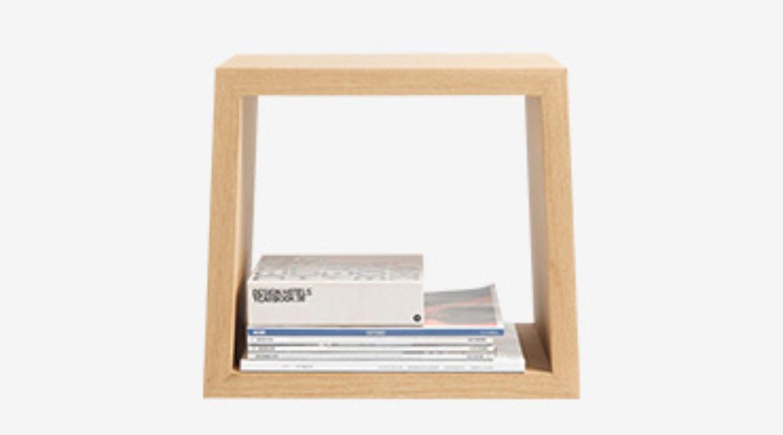 Wood box bookshelf creative